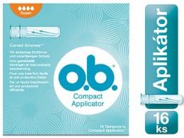 o.b. Compact Super tampony s aplikátorem 16ks