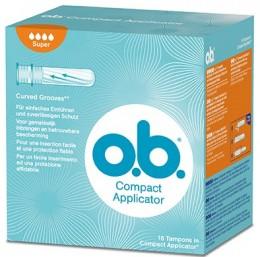 o.b. Compact Super s aplikátorem Tampony 16 ks