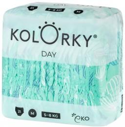 Kolorky Day Jednorázové eko plenky - balóny - XL (12-16 kg) - 17 ks