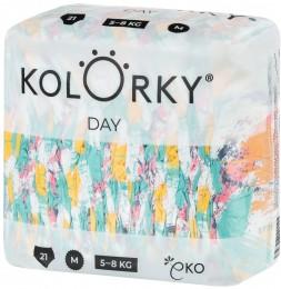 Kolorky Day XL (12-16 kg) - štětce - 17 ks jednorázové eko plenky