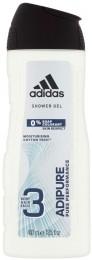 Adidas Adipure sprchový gel 3 v 1 na tělo, tvář a vlasy
