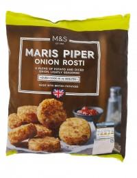 Marks & Spencer Jemně solené bramborové placičky s cibulí k dopečení