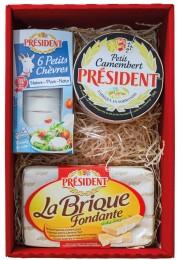 Président Mix sýrů dárkové plato