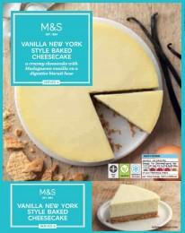 Marks & Spencer Vanilkový Cheesecake