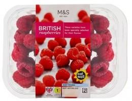 Marks & Spencer Hluboce zmražené britské maliny