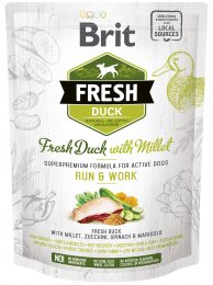 VZOREK: Brit Fresh Duck with Millet Active Run & Work 1ks