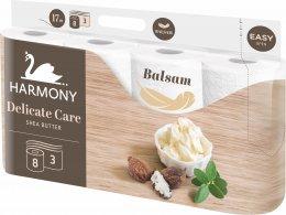 Harmony Delicate care toaletní papír s balzámem z bambuckého másla 3 vrstvý, 8ks