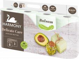 Harmony Delicate care toaletní papír s balzámem z avokádového másla 3 vrstvý, 8ks