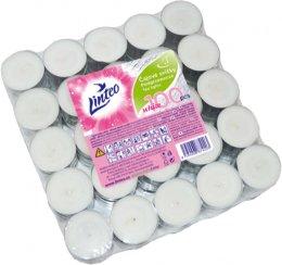 Linteo bílé čajové svíčky 100ks