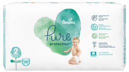 Pampers Pure Protection 4-8 kg (velikost 2) 39 ks