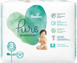 Pampers Pure Protection 6-10 kg (velikost 3) 31 ks