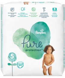 Pampers Pure Protection 11-16 kg (velikost 5) 24 ks