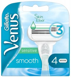 Gillette Venus Smooth Sensitive náhradní hlavice 4ks