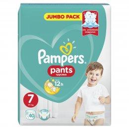 Pampers Pants Jumbo Pack 17+kg (velikost 7) 40 ks