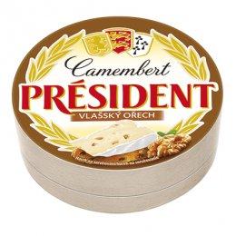 Président Camembert Ořechový ve dřevě