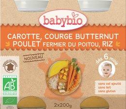 Babybio BIO Mrkev s máslovou dýní, kuřetem a rýží