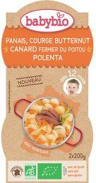 Babybio BIO Pastinák s máslovou dýní, kachnou a polentou