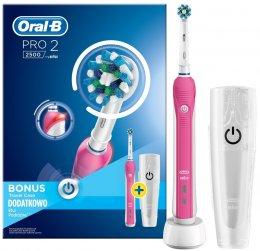Oral-B PRO 22500 CrossAction bílo-růžový elektrický zubní kartáček