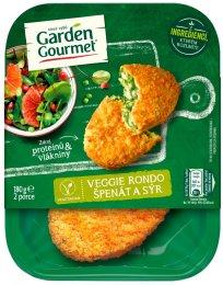Garden Gourmet Vegetariánské Veggie rondo špenát a sýr