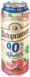 Zlatopramen Radler 0,0% Grapefruit & Rozmarýn pivo ochucené nealkoholické plech