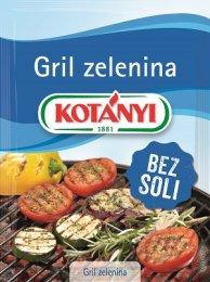 Kotányi Gril zelenina koření bez soli