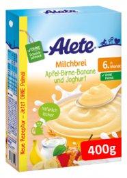Alete Mléčná semolinová kaše jogurtová s ovocem