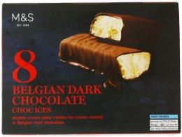Marks & Spencer Zmrzlinové tyčinky polité hořkou belgickou čokoládou