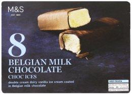 Marks & Spencer Zmrzlinové tyčinky polité mléčnou belgickou čokoládou