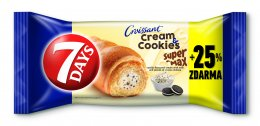 7DAY Super max croissant vanilka+cookies