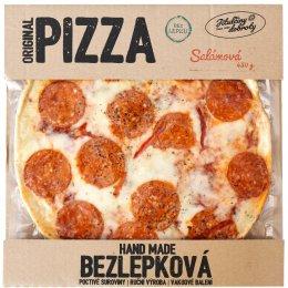 Jitulčiny dobroty Salámová bezlepková pizza mražená