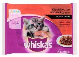 Whiskas Junior kapsičky pro koťata Klasický výběr ve šťávě 4 × 100g