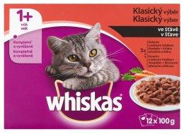Whiskas kapsičky Klasický výběr ve šťávě 12 × 100g