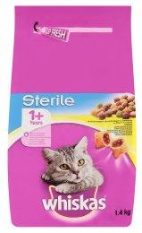 Whiskas granule pro dospělé kastrované kočky s kuřecím