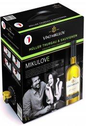 Víno Mikulov Morava Müller Thurgau & Sauvignon bag in box