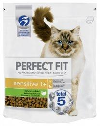 Perfect Fit Sensitive granule pro dospělé kočky s citlivým zažíváním Bohaté na krůtí 750g