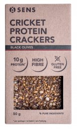 SENS Protein bezlepkové krekry s cvrččí moukou - Black Olives