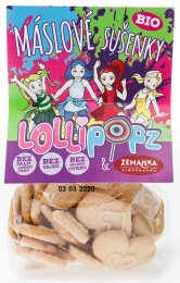 Zemanka BIO Máslové sušenky Lollipopz