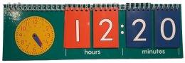 EDX Education Stolní hodinový kalendář Digitální a analogový čas