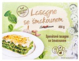 Lasagne se šmakounem Špenátové lasagne se šmakounem