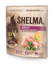 Shelma Bezobilné ADULT granule s čerstvým kuřecím masem pro dospělé kočky