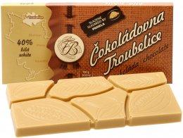 Čokoládovna Troubelice Čokoláda bílá 40%