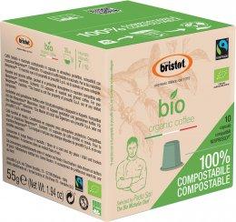 Bristot BIO kapsle organic coffee 100% kompostovatelné
