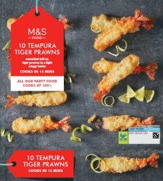 Marks & Spencer Krevety v křupavém těstíčku 10 ks (mražené)