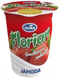 Olma Florian smetanový jogurt jahoda