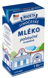 Madeta Jihočeské trvanlivé polotučné mléko 1,5%