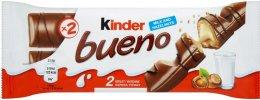 Kinder Bueno oplatka s čokoládovou polevou a mléčnou lískooříškovou náplní (2x21,5g)