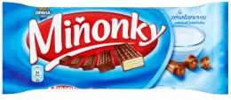 Opavia Miňonky Oplatky s mléčnou náplní se smetanovou příchutí v mléčné čokoládě