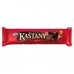 Orion Ledové Kaštany tyčinka v hořké čokoládě s kakaovooříškovou náplní
