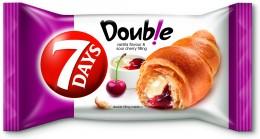 7Days Croissant double vanilka+višeň