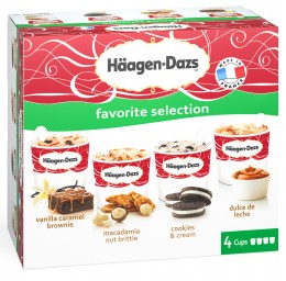 Häagen-Dazs Favorite Selection multipack 4x100ml